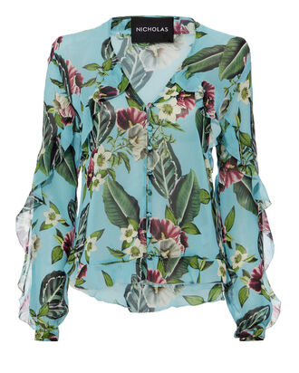 Mayflower Frill Blouse, MULTI, hi-res
