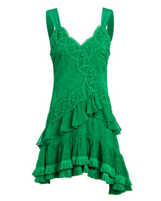 Lakshmi Sleeveless Lace Dress, GREEN, hi-res