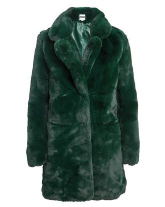 Sophie Emerald Faux Fur Coat, EMERALD, hi-res