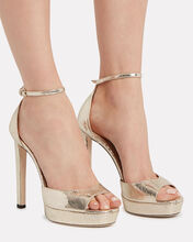 Pattie 130 Platform Sandals, GOLD, hi-res