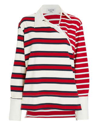 Twisted Stripe Rugby Top, RED/BLUE STRIPE, hi-res