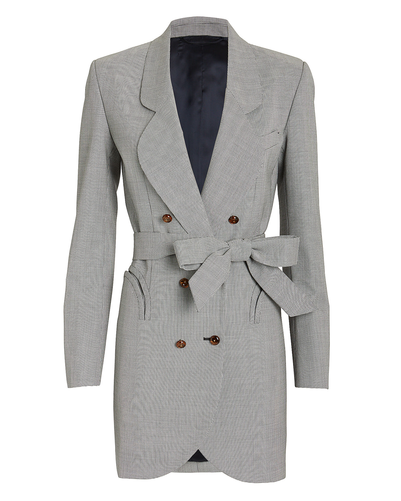 Sunshine Micro Check Blazer Dress, GREY, hi-res