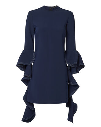Kilkenny Frill Sleeve Navy Dress, NAVY, hi-res