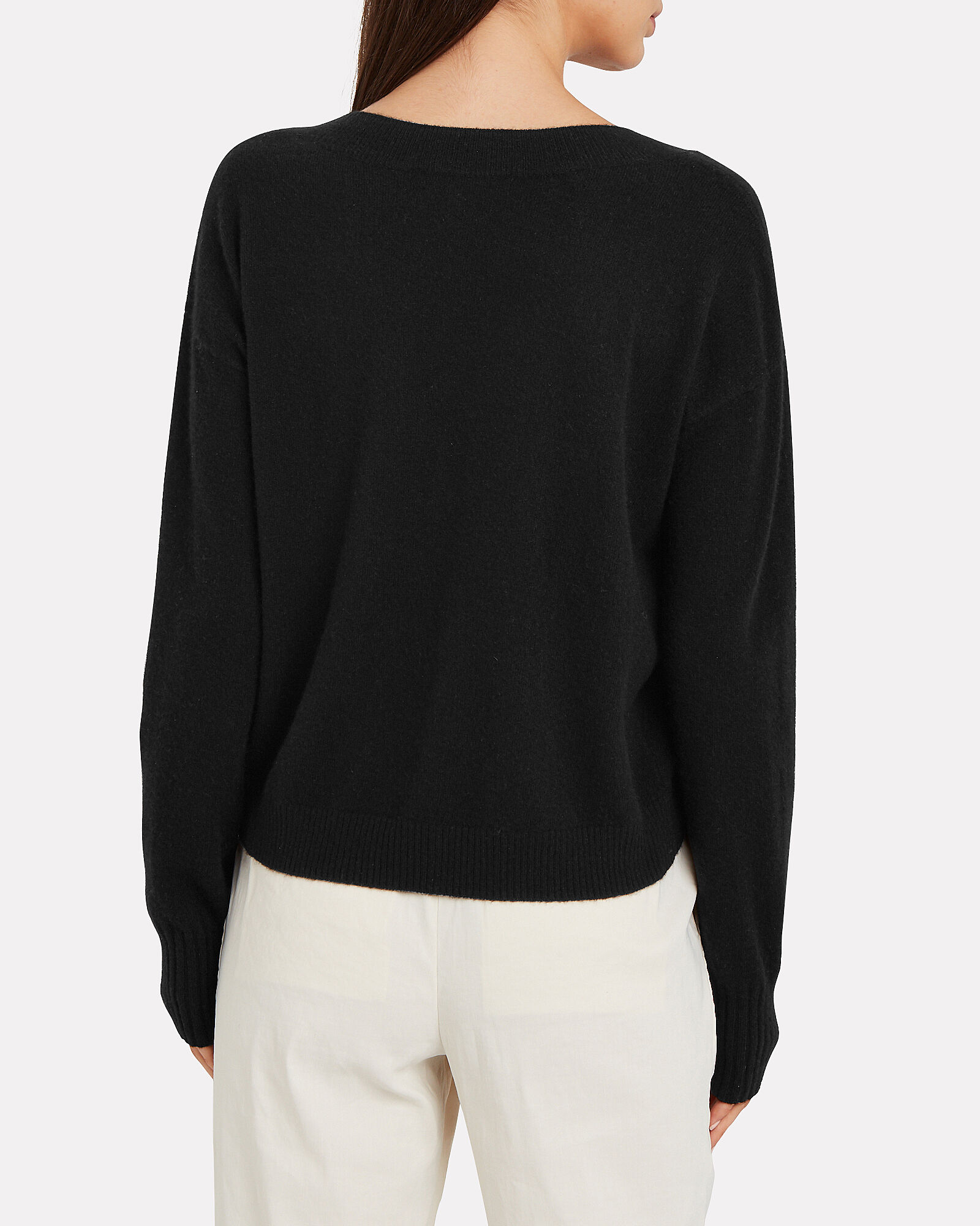 Elroy V-Neck Cashmere Sweater, BLACK, hi-res