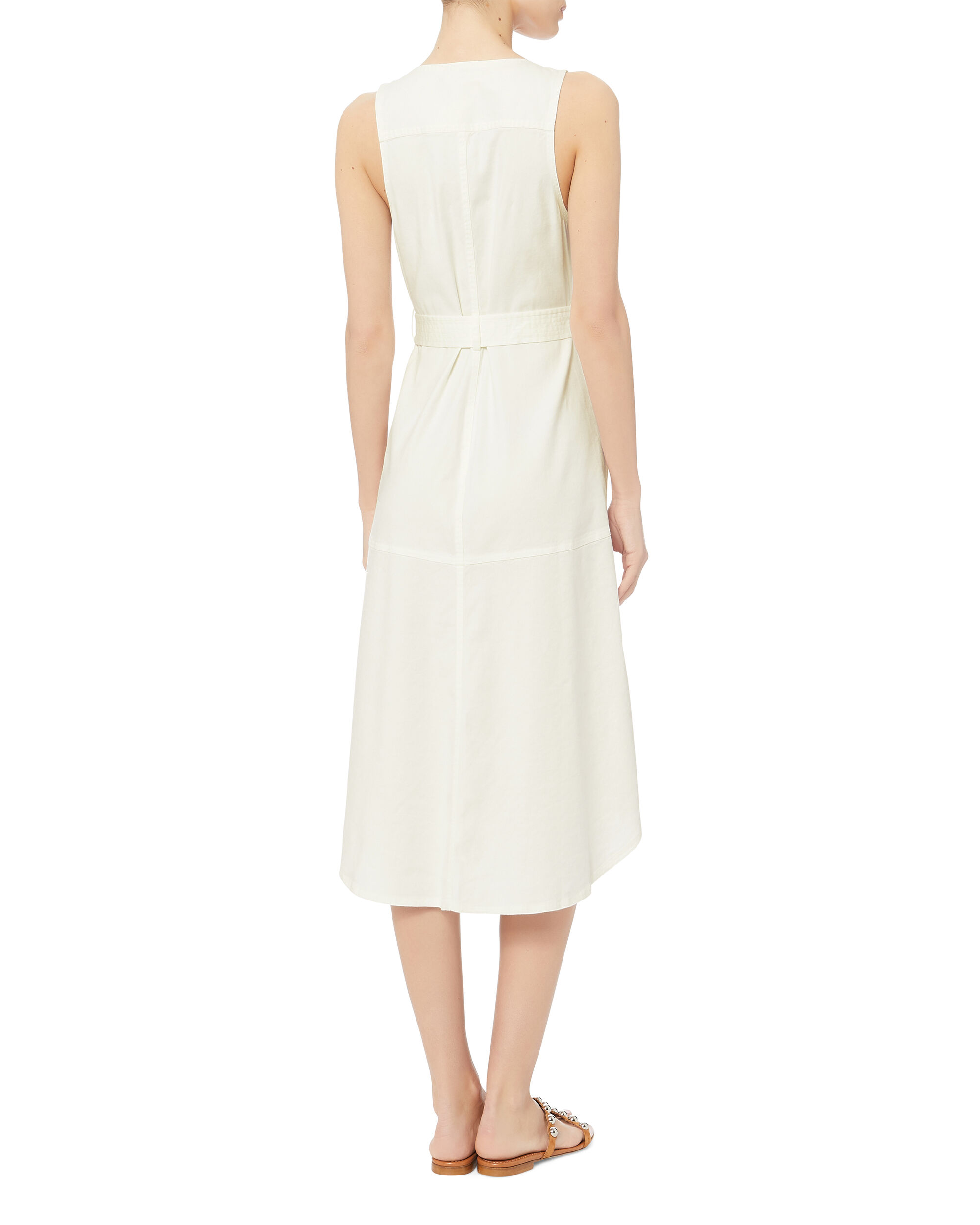 Kit Wrap Midi Dress, IVORY, hi-res