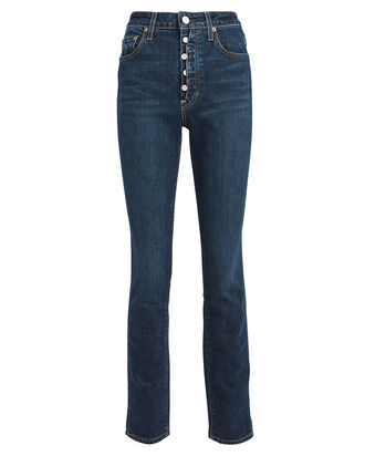 Lawson High-Rise Skinny Jeans, DENIM-DRK, hi-res