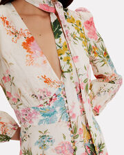 Heathers Plunge Maxi Dress, WHITE/PINK FLORAL, hi-res