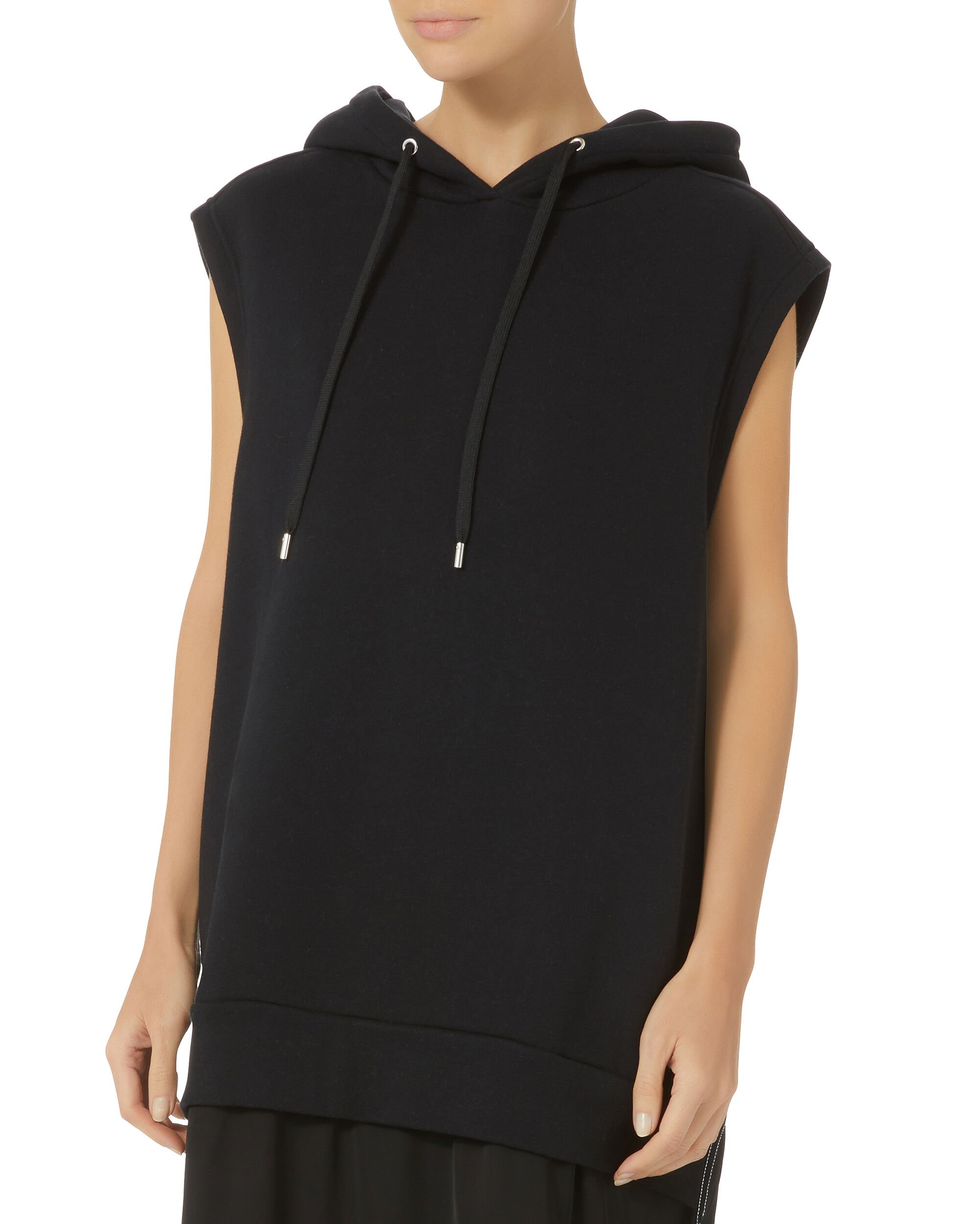 Allison Hoodie French Terry Dress, BLACK, hi-res