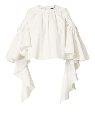 Baby Cold Shoulder Ruffle Top, WHITE, hi-res