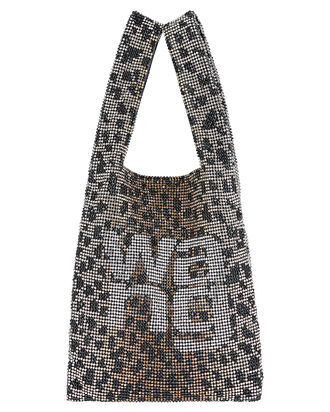 Wangloc Leopard Rhinestone Mini Shopper, BLACK/GOLD LEOPARD, hi-res