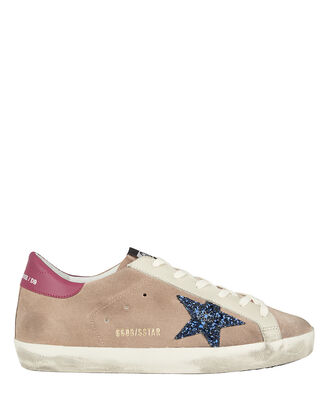 Superstar Suede Low-Top Sneakers, BEIGE, hi-res