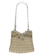 Iconic 1969 Metal Chain Mail Bag, SILVER, hi-res