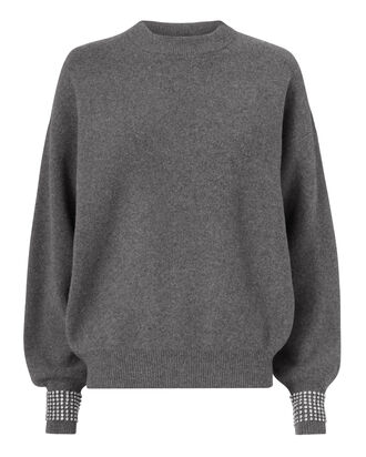 Crystal Cuff Sweater, GREY, hi-res