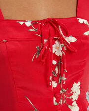 Pia Red Floral Blouse, RED, hi-res