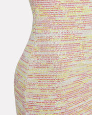 Delta Tweed Mini Dress, YELLOW/WHITE/TWEED, hi-res