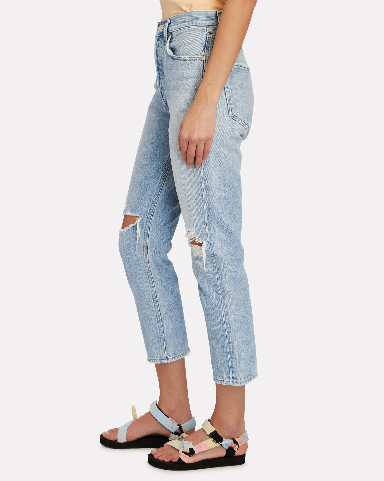Riley High-Rise Cropped Jeans, CLEAR SKIES, hi-res
