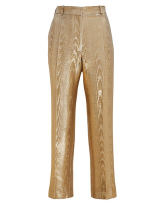 Michael Moiré Metallic Cigarette Trousers, GOLD, hi-res
