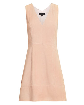 Sydney Suede Mini Dress, PINK, hi-res