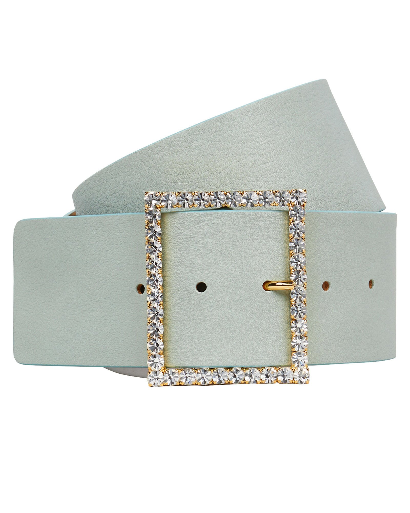 Ingrid Crystal Buckle Belt, MINT, hi-res