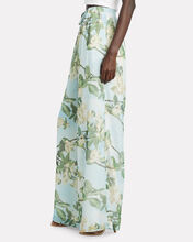 Floral Chiffon Wide-Leg Pants, MULTI, hi-res