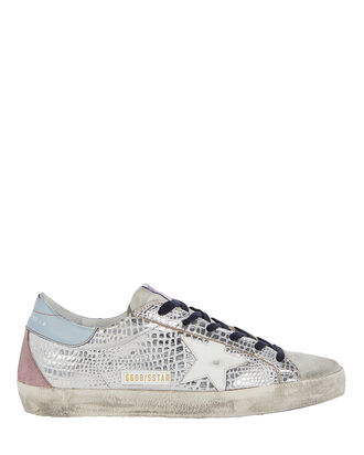 Superstar Low-Top Leather Sneakers, SILVER, hi-res