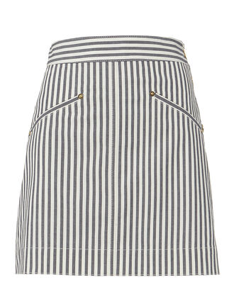Striped Mini Skirt, BLUE-MED, hi-res