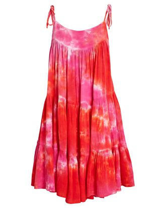 Peri Tie-Dye Mini Dress, RED/PINK, hi-res
