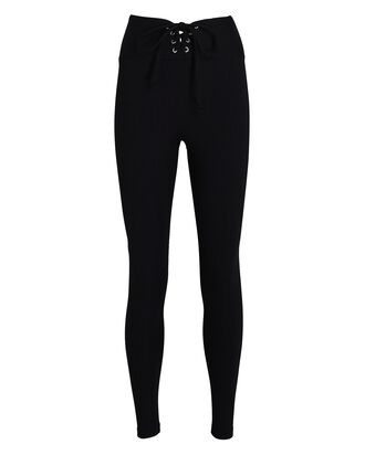 Ribbed Football Leggings, BLACK, hi-res