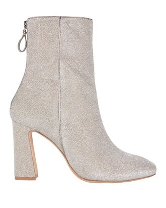 Corella Metallic Booties, SILVER, hi-res