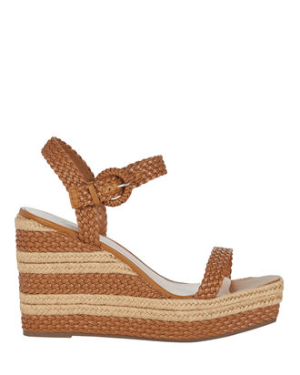 Nani Two-Tone Braided Espadrilles, BROWN, hi-res