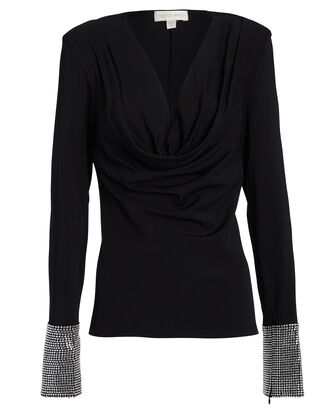 Sandra Embellished Blouse, BLACK, hi-res