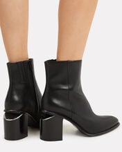 Anna Cutout Heel High Booties, BLACK, hi-res
