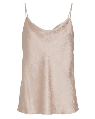 Jacquard Silk Charmeuse Camisole, PALE PINK, hi-res