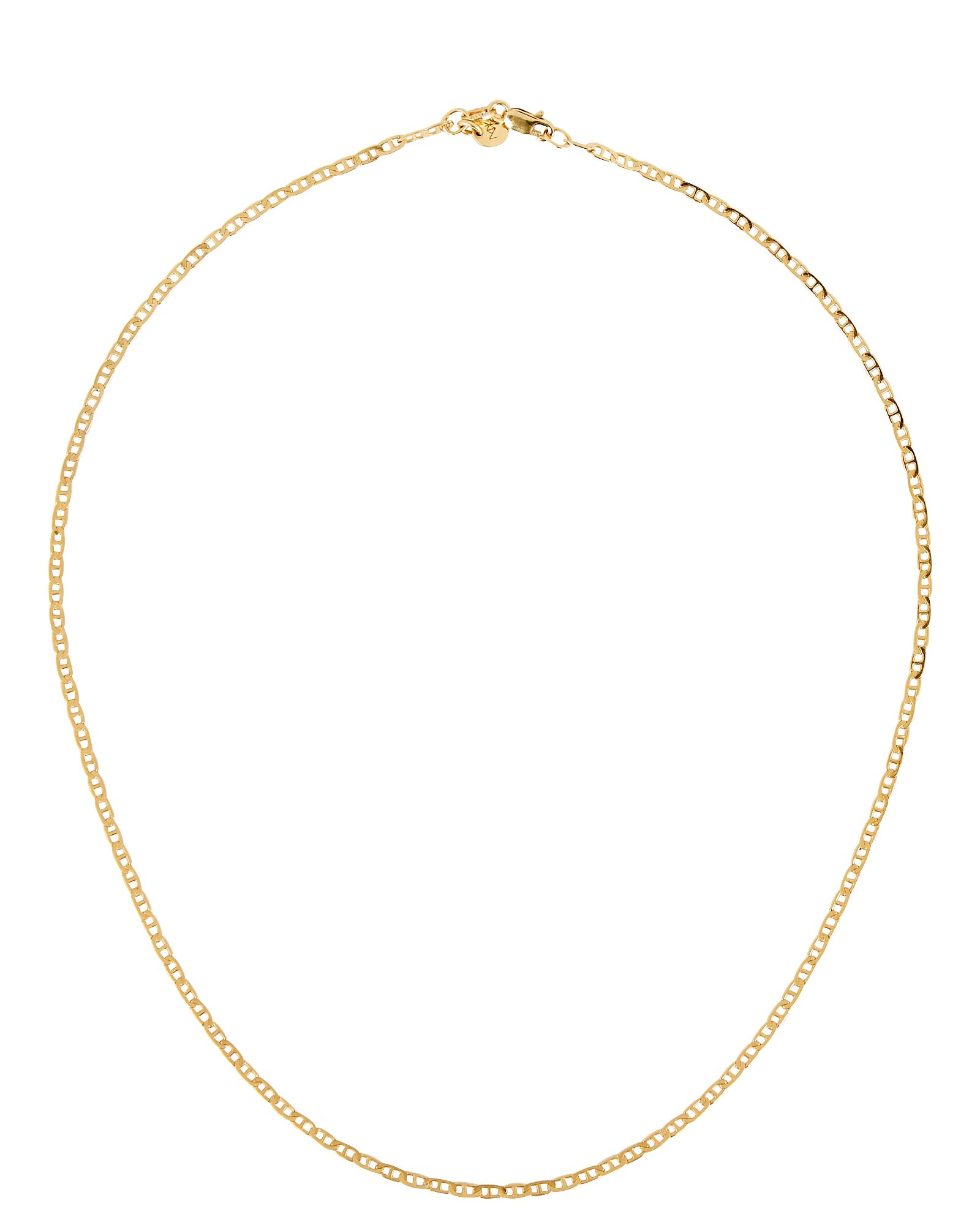 Anchor Chain Necklace, GOLD, hi-res