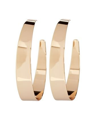 Estelle Flat Hoop Earrings, GOLD, hi-res