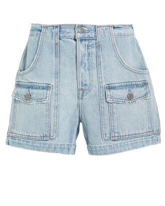 Chloe Cargo Shorts, LIGHT BLUE WASH, hi-res