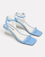 Alyssa Clear Heel Sandals, BLUE-MED, hi-res