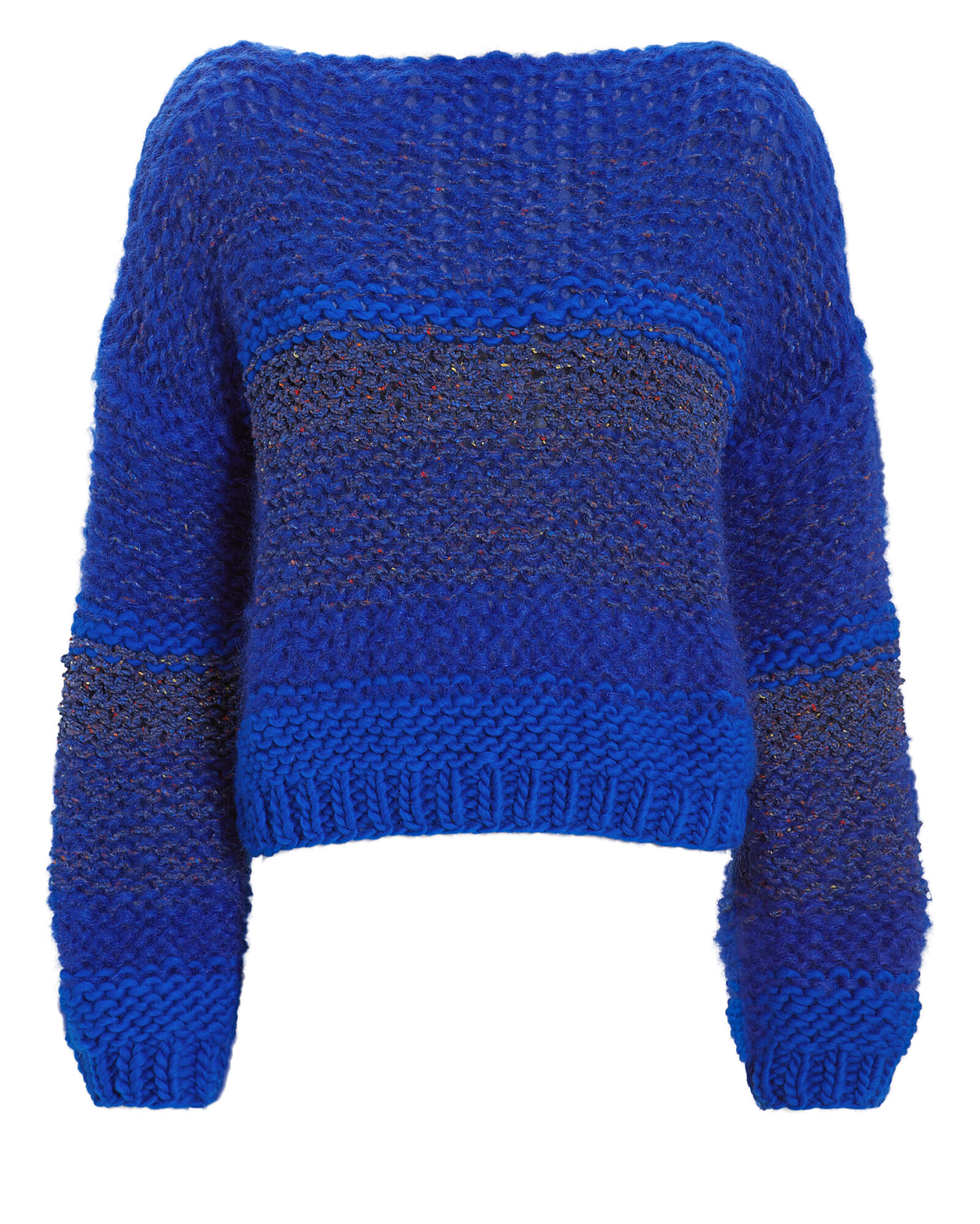 Oversized Knit Sweater, BLUE, hi-res