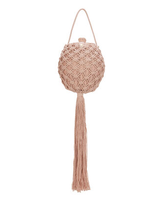 Leia Wicker Shoulder Bag, PINK, hi-res