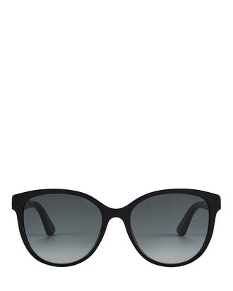 Web Cat Eye Sunglasses, BLACK, hi-res