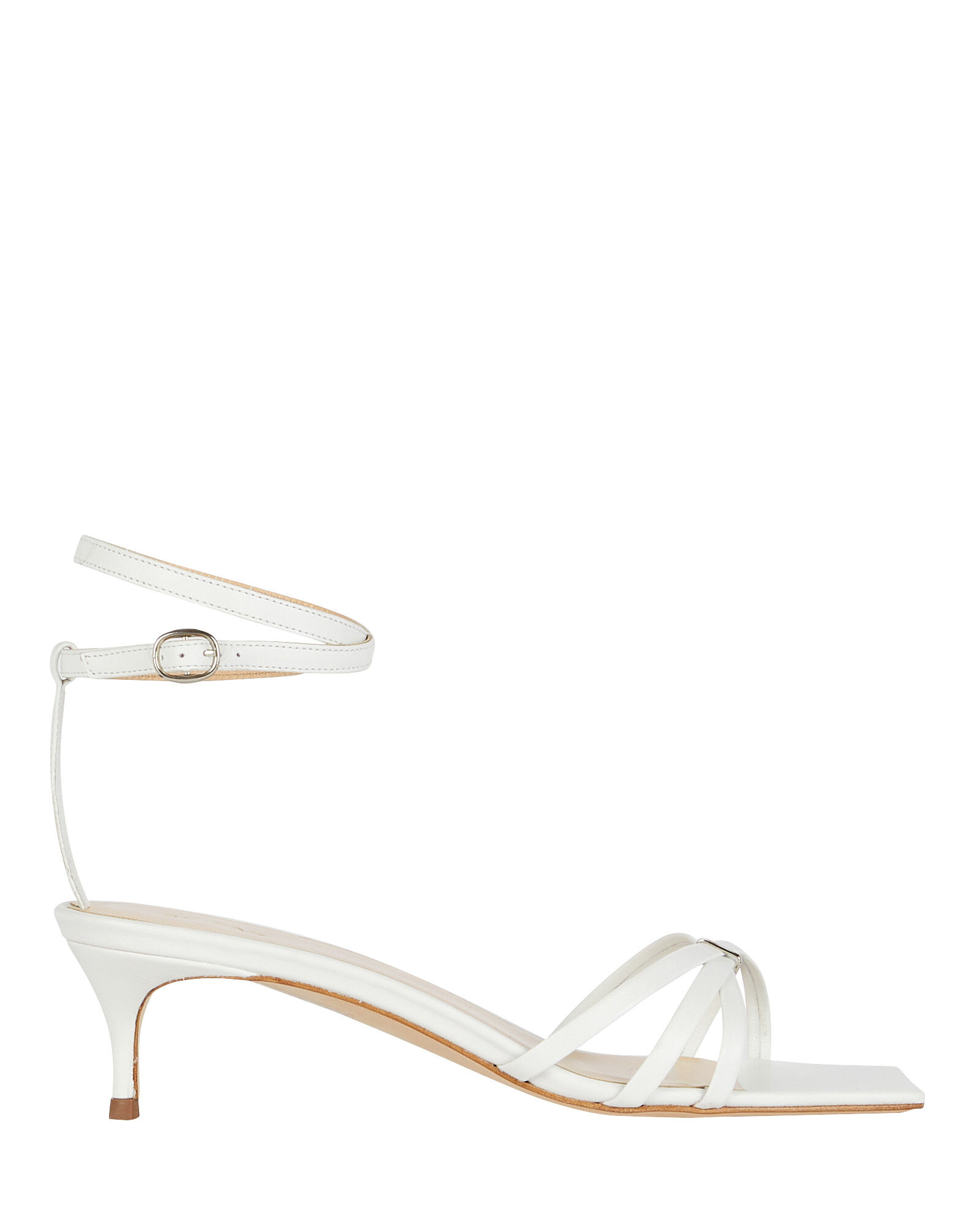 Kaia Leather Wrap Sandals, WHITE, hi-res