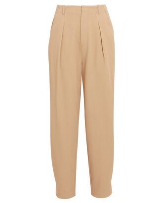 Bethenny High-Rise Straight-Leg Pants, BEIGE, hi-res