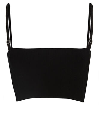 Winnie Knit Crop Top, BLACK, hi-res