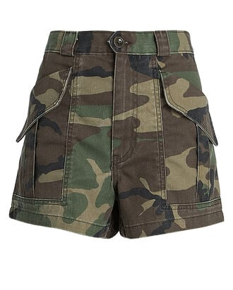 Lucy Camouflage Cargo Shorts, OLIVE CAMOUFLAGE, hi-res