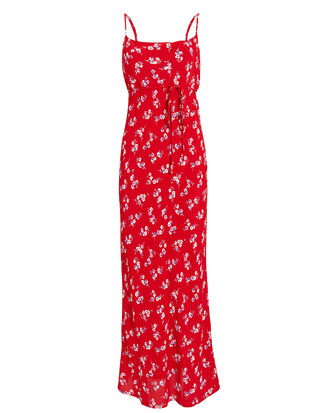 Jackie Slip Dress, RED/FLORAL, hi-res