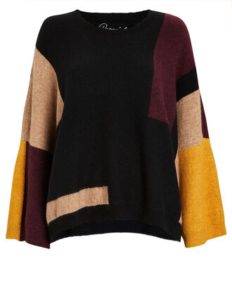 Justus Colorblocked Sweater, BLACK/BEIGE, hi-res