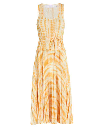Tie-Dye Pleated Midi Dress, , hi-res