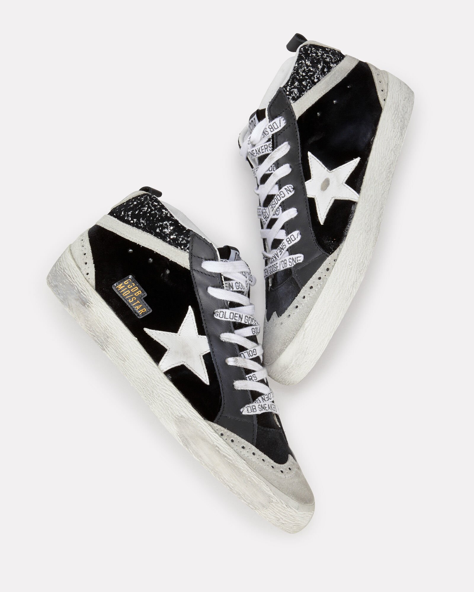 Mid Star Velvet Sneakers, BLACK, hi-res