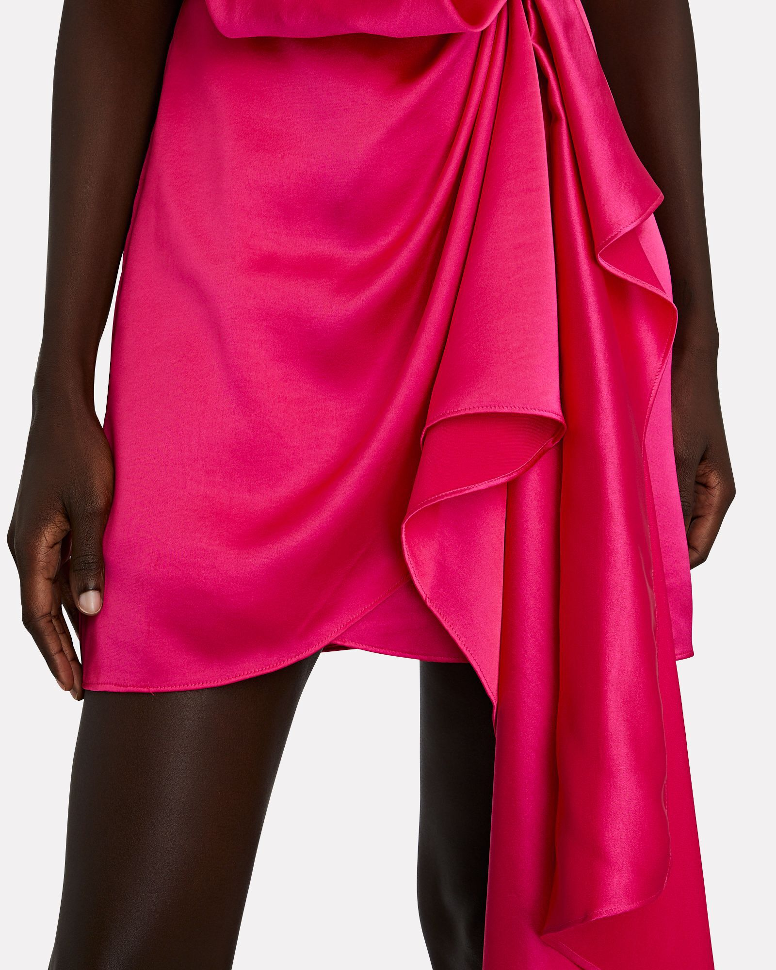 Lochner Satin Draped Mini Dress, PINK, hi-res