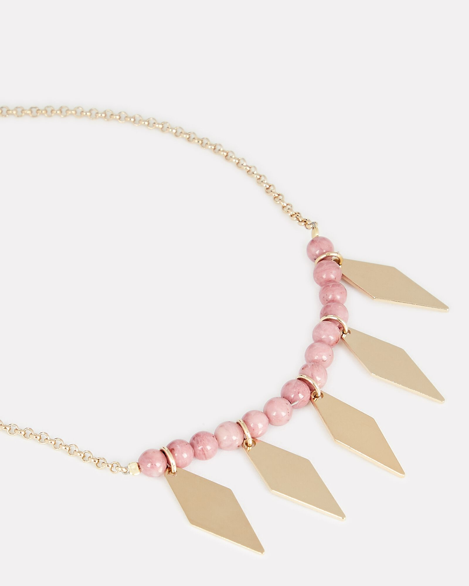 Harlow Beaded Necklace, PINK, hi-res